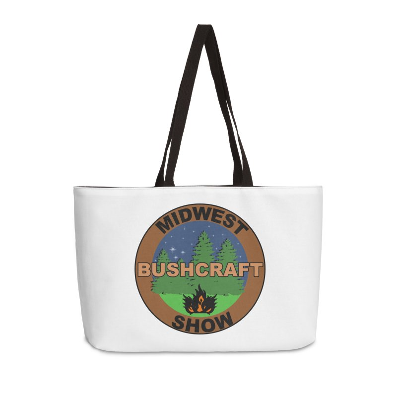 Official Show Logo Accessories Weekender Bag Bag by midwestbushcraftshow's Artist Shop