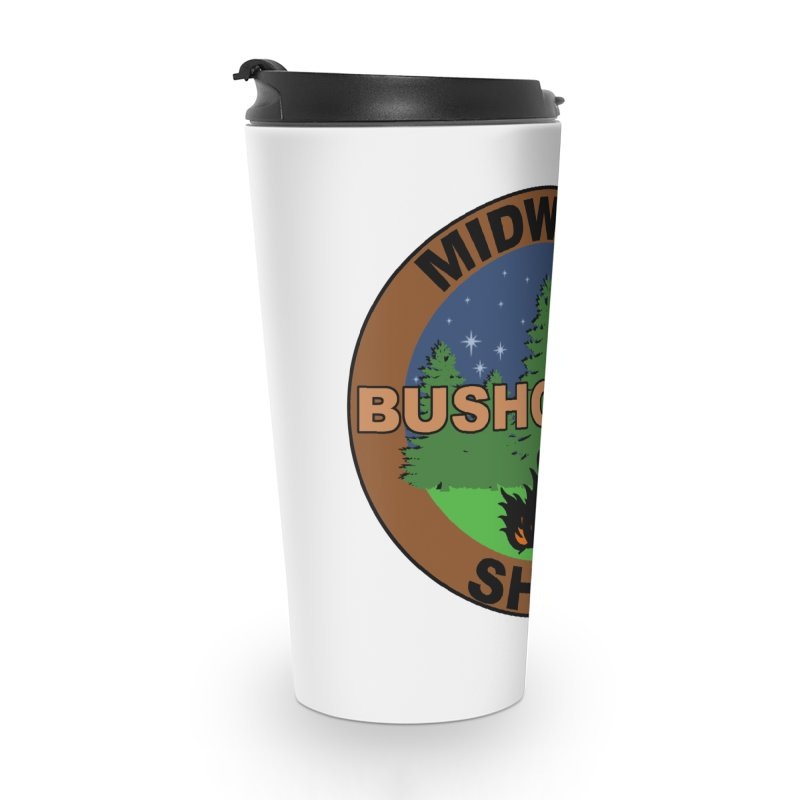 Official Show Logo Accessories Travel Mug by midwestbushcraftshow's Artist Shop
