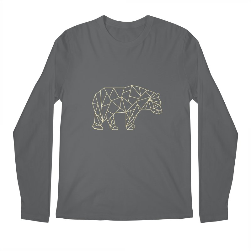 Geometric Bear Men's Longsleeve T-Shirt by Miezerie