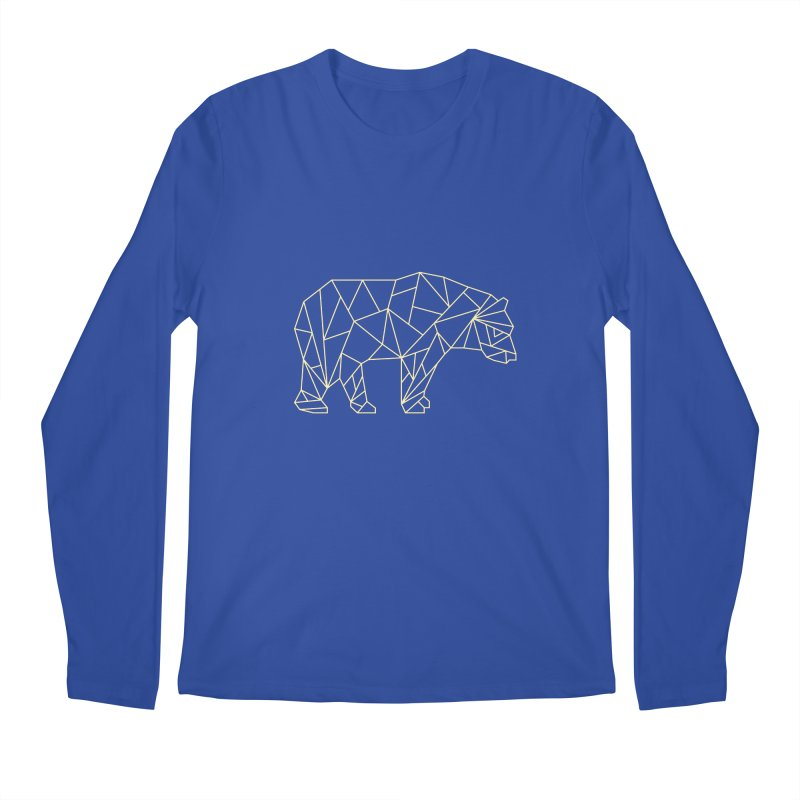 Geometric Bear Men's Longsleeve T-Shirt by Miezerie