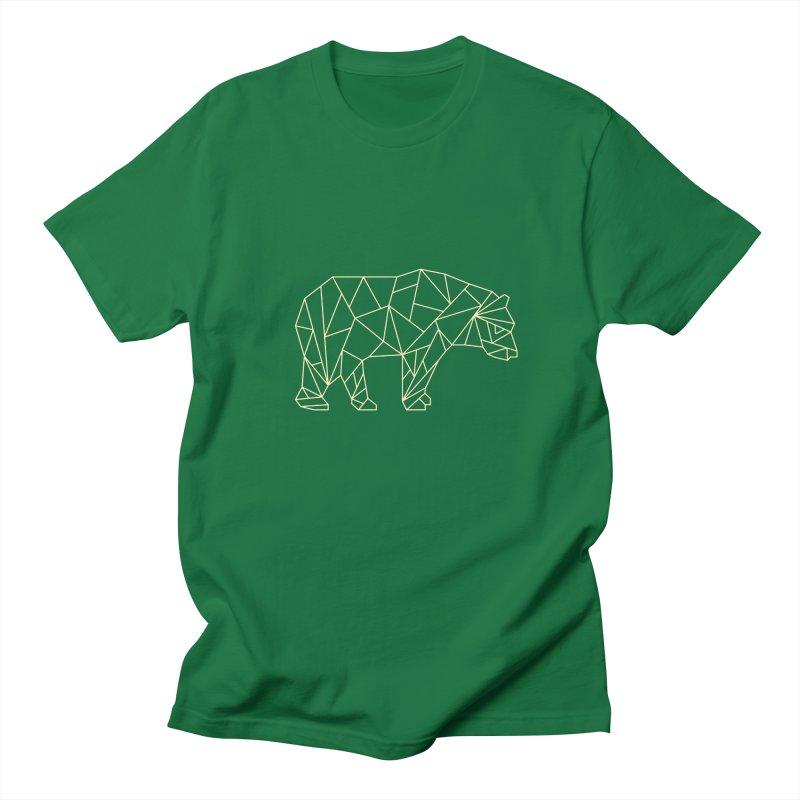 Geometric Bear Men's T-shirt by Miezerie