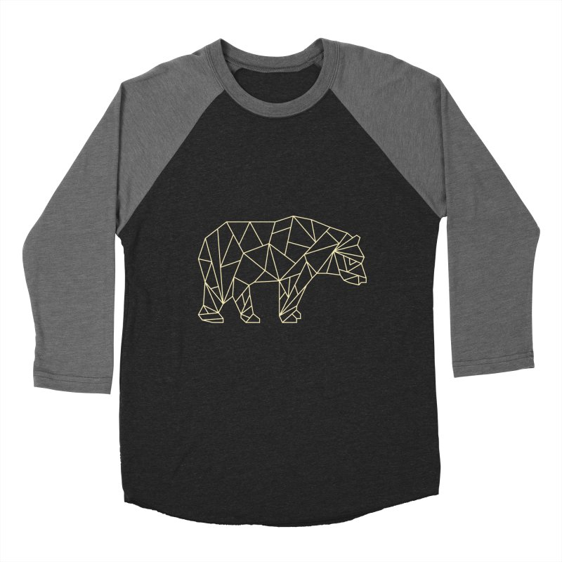 Geometric Bear Men's Baseball Triblend T-Shirt by Miezerie