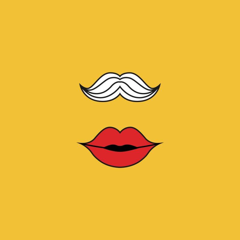 Moustache Meet Lip Women's Sweatshirt by Miezerie