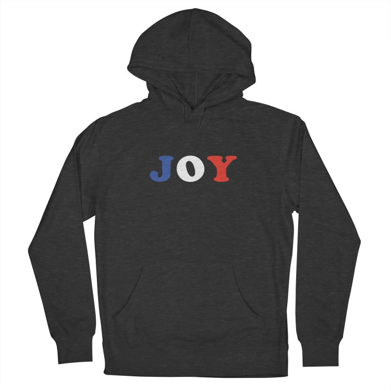 Joy Men's French Terry Pullover Hoody by Miezerie