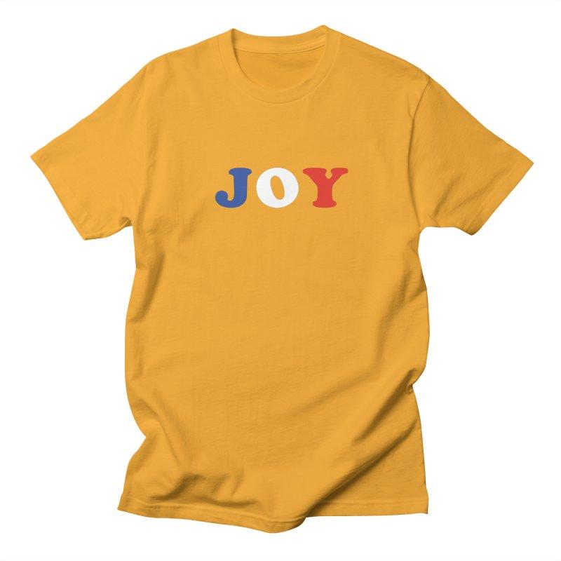 Joy Men's Regular T-Shirt by Miezerie
