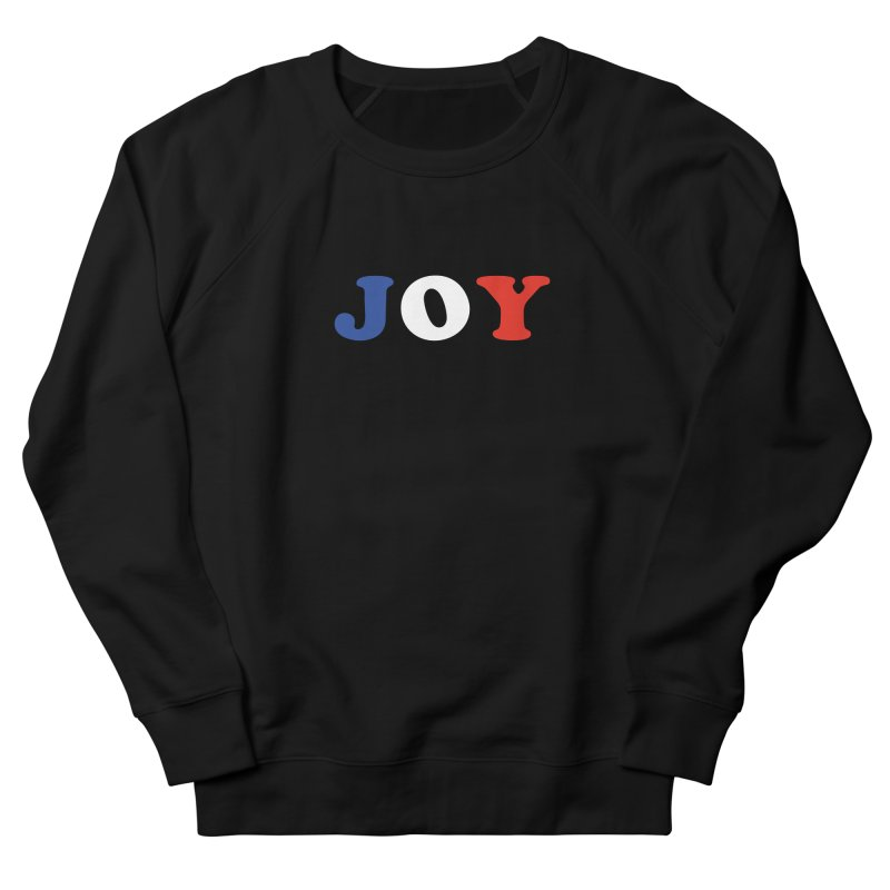 Joy in Men's French Terry Sweatshirt Black by Miezerie