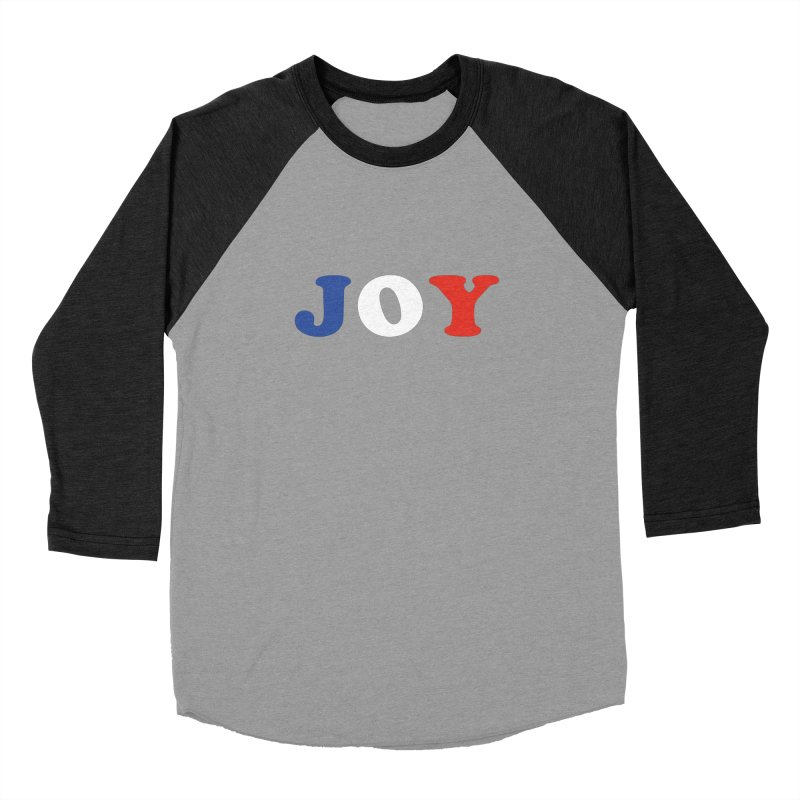 Joy Men's Baseball Triblend T-Shirt by Miezerie