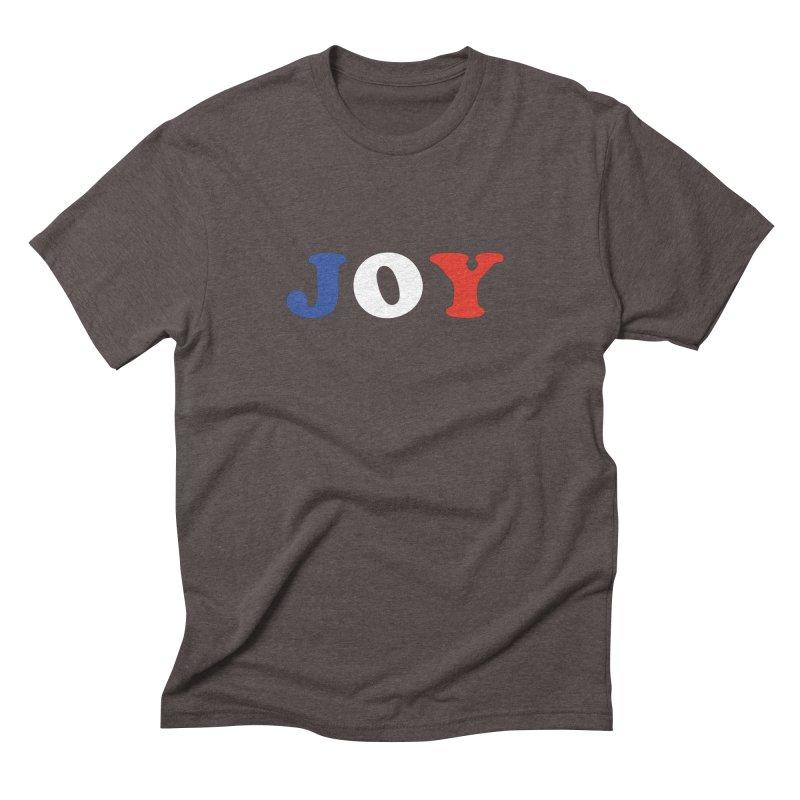 Joy Men's Triblend T-shirt by Miezerie