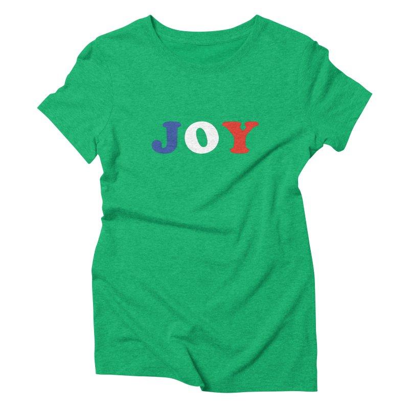 Joy Women's Triblend T-Shirt by Miezerie