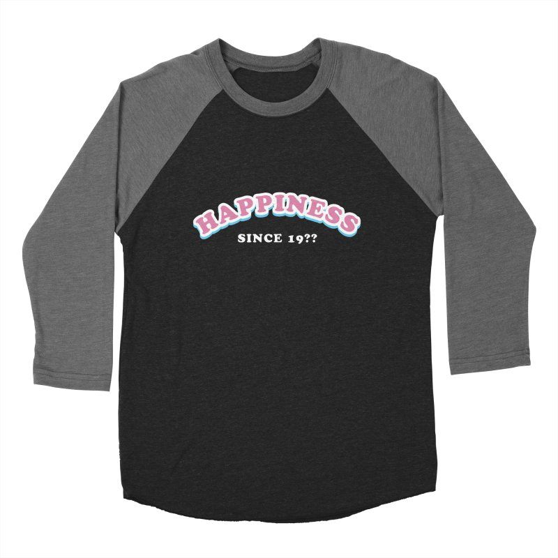 Happiness Since..  Women's Baseball Triblend T-Shirt by Miezerie