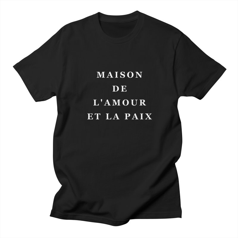 House of Love & Peace Men's T-shirt by Miezerie