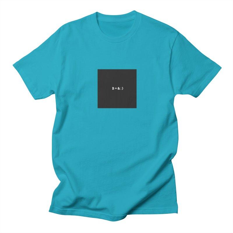 B+&:) Men's Regular T-Shirt by Miezerie