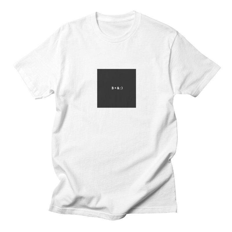 B+&:) Men's T-shirt by Miezerie