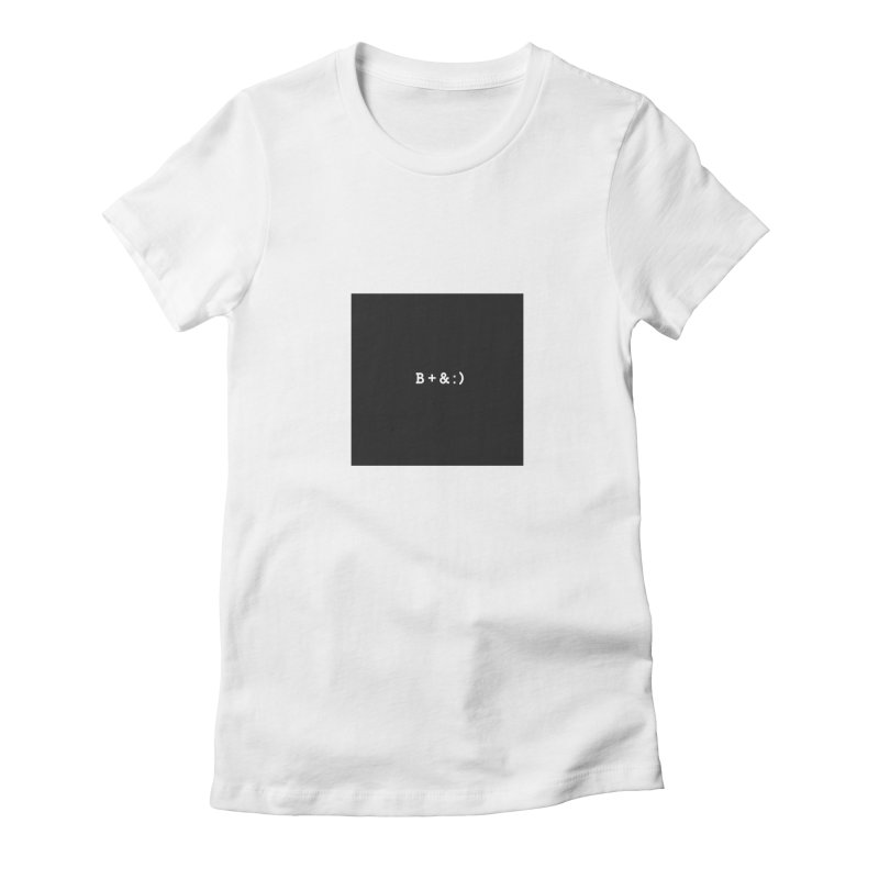 B+&:) Women's Fitted T-Shirt by Miezerie