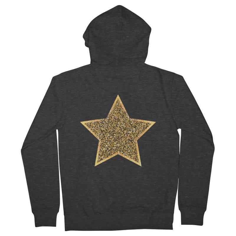 Super 'Star' Women's French Terry Zip-Up Hoody by Miezerie