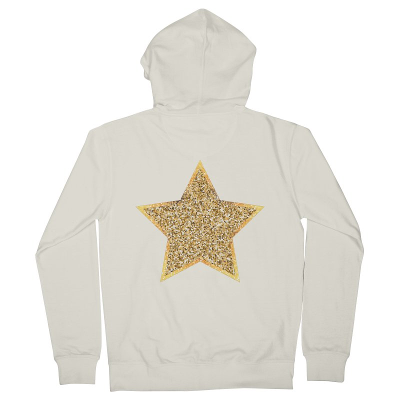 Super 'Star' in Women's French Terry Zip-Up Hoody Heather Oatmeal by Miezerie