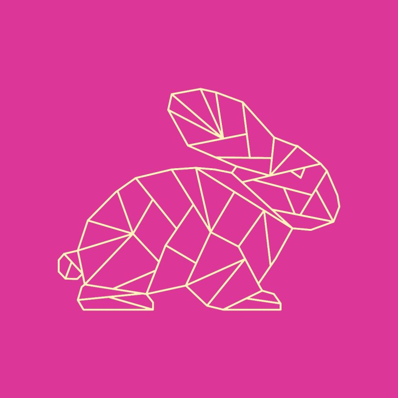 Geometric Rabbit by Miezerie