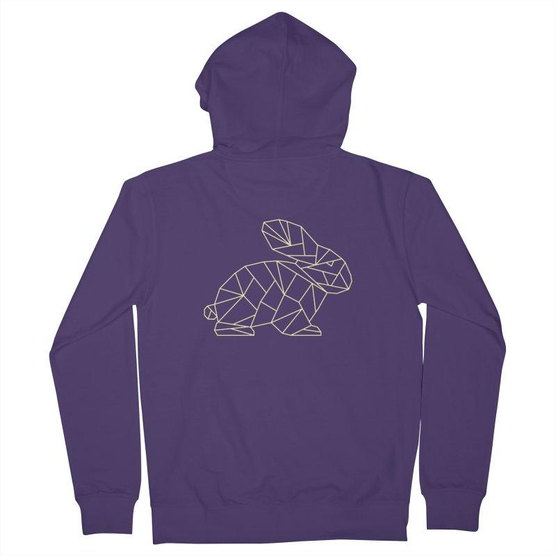 Geometric Rabbit Women's Zip-Up Hoody by Miezerie
