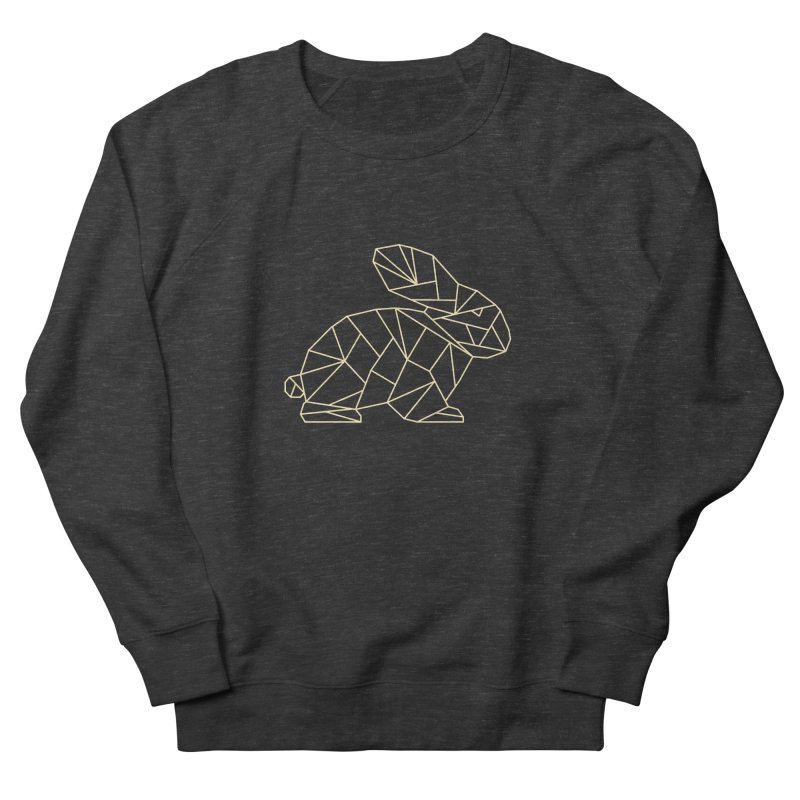 Geometric Rabbit Women's French Terry Sweatshirt by Miezerie