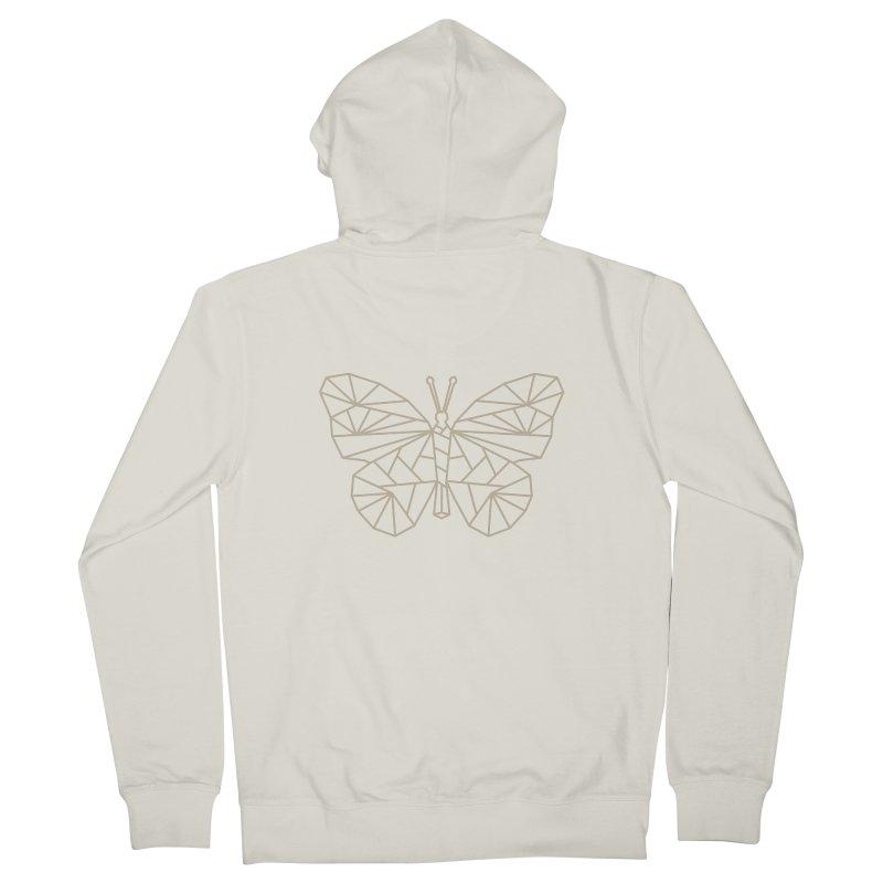 Geometric Butterfly Men's Zip-Up Hoody by Miezerie