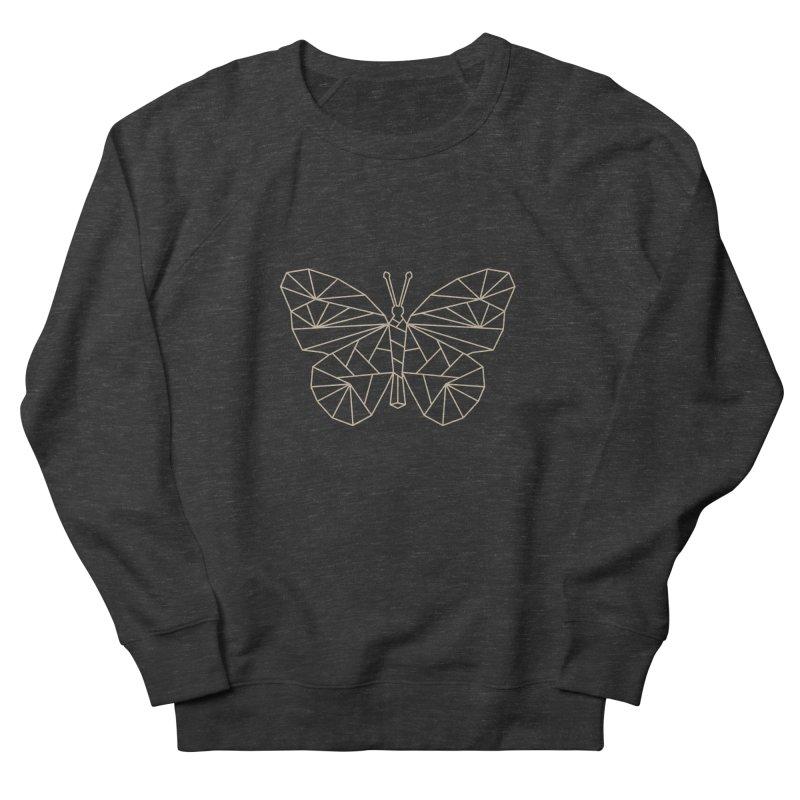 Geometric Butterfly Women's French Terry Sweatshirt by Miezerie