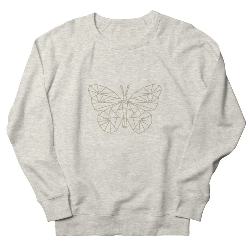 Geometric Butterfly Women's French Terry Sweatshirt by Miezerie