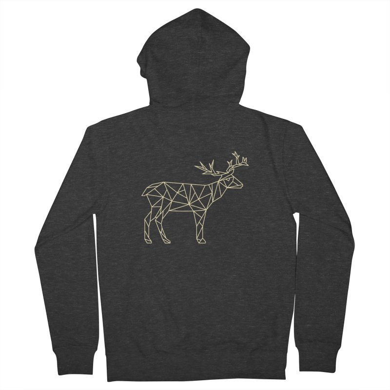 Geometric Deer Women's Zip-Up Hoody by Miezerie