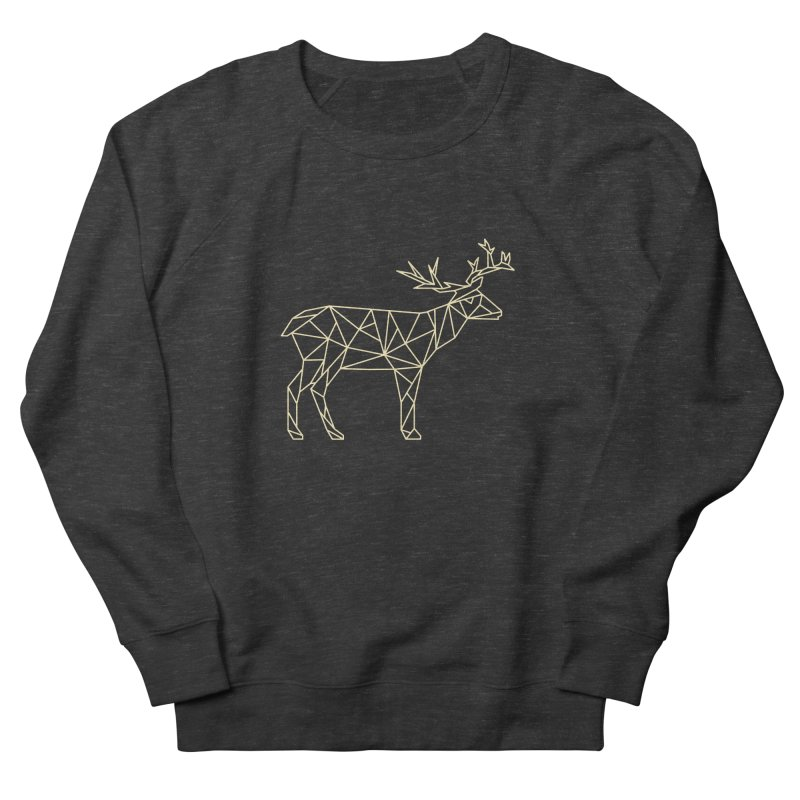 Geometric Deer Women's Sweatshirt by Miezerie