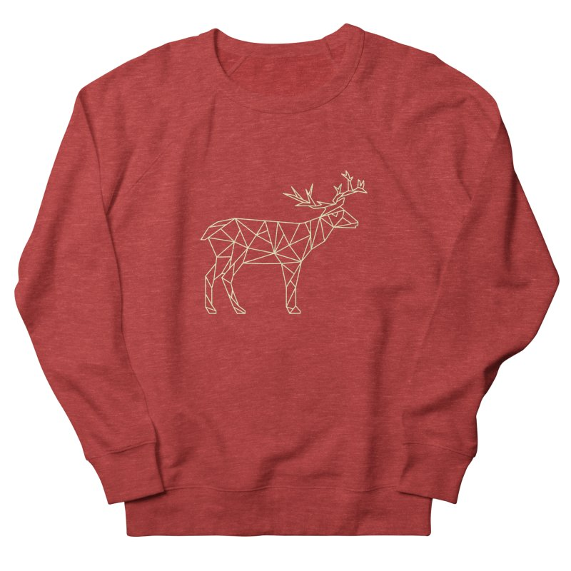 Geometric Deer Women's French Terry Sweatshirt by Miezerie