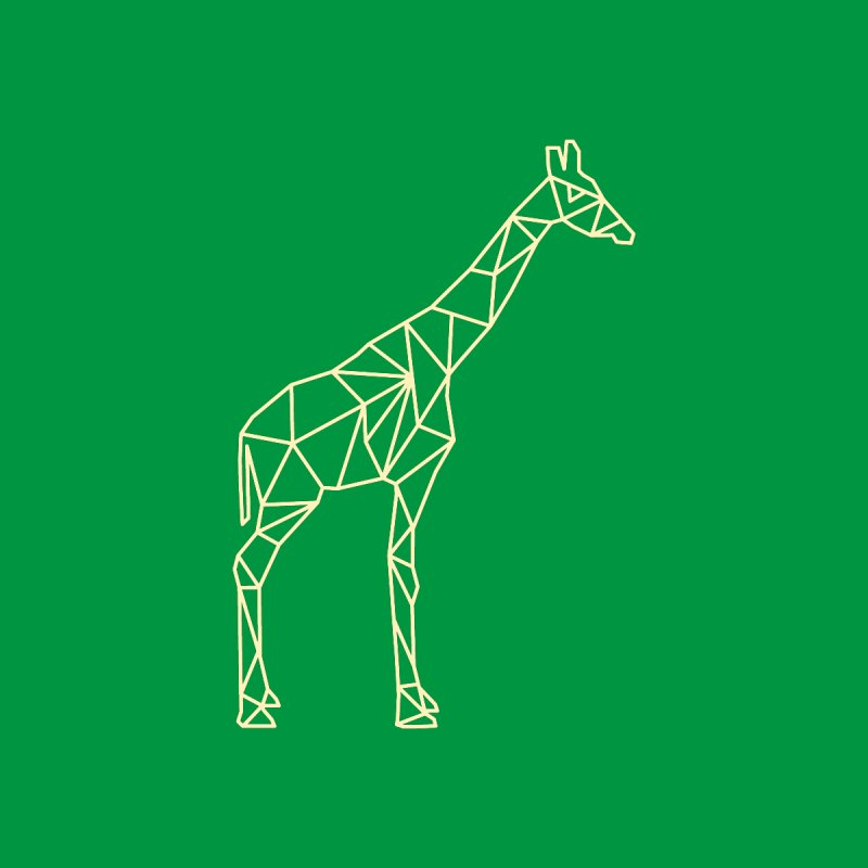 Geometric Giraffe by Miezerie