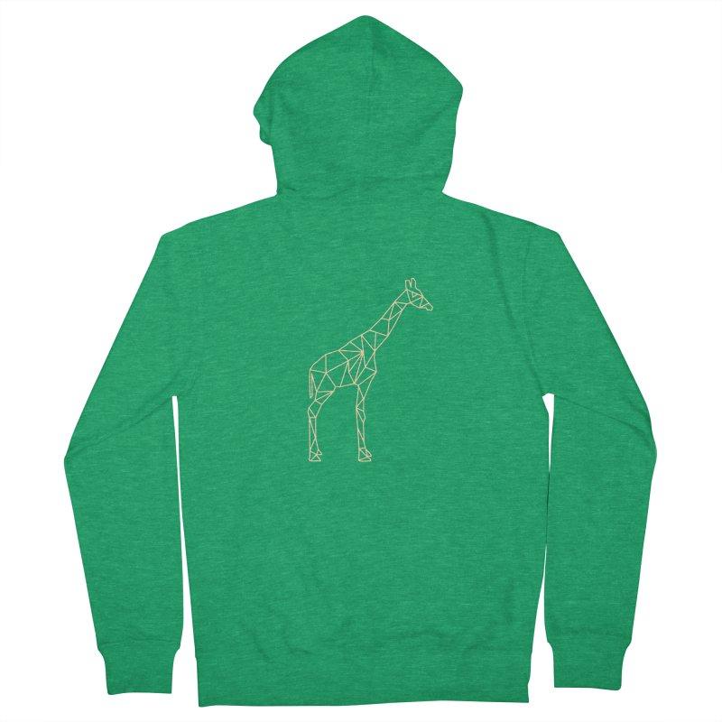 Geometric Giraffe Men's Zip-Up Hoody by Miezerie