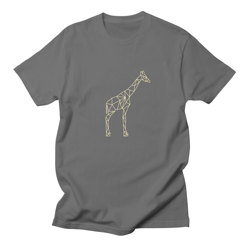 Geometric Giraffe Men's Regular T-Shirt by Miezerie