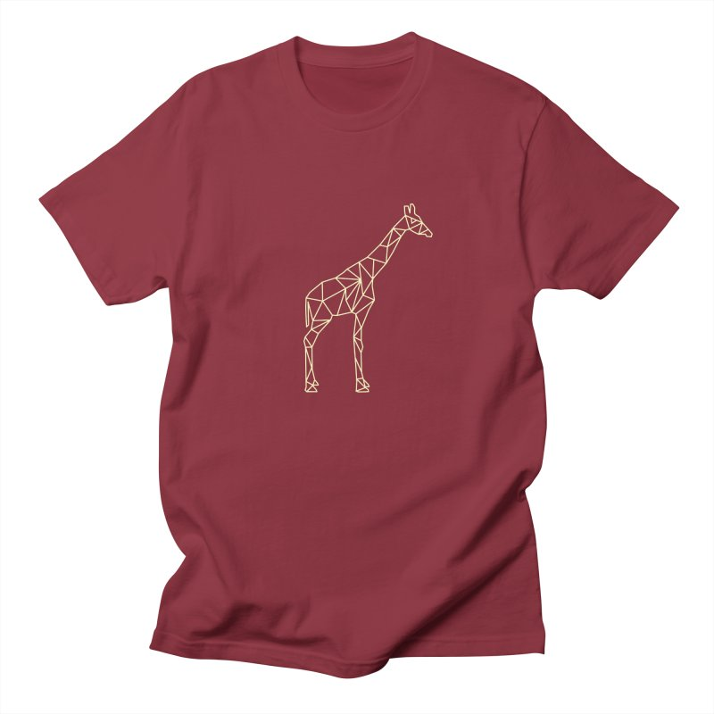 Geometric Giraffe Men's T-Shirt by Miezerie
