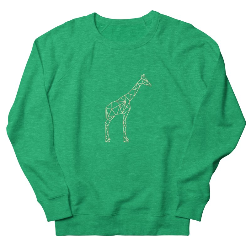 Geometric Giraffe Women's French Terry Sweatshirt by Miezerie