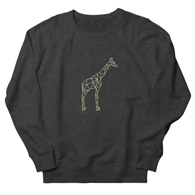 Geometric Giraffe Women's Sweatshirt by Miezerie