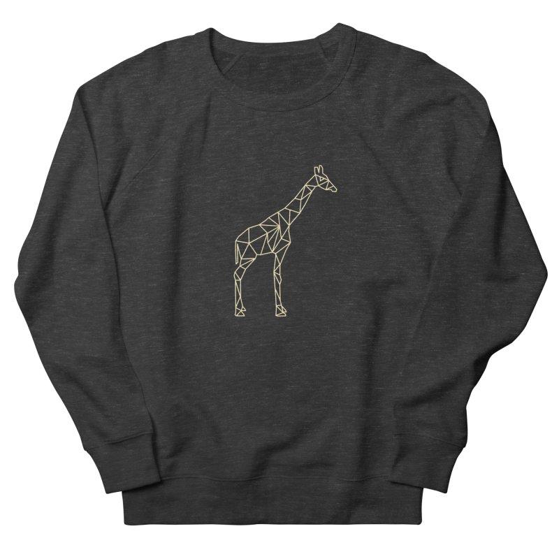 Geometric Giraffe Men's Sweatshirt by Miezerie