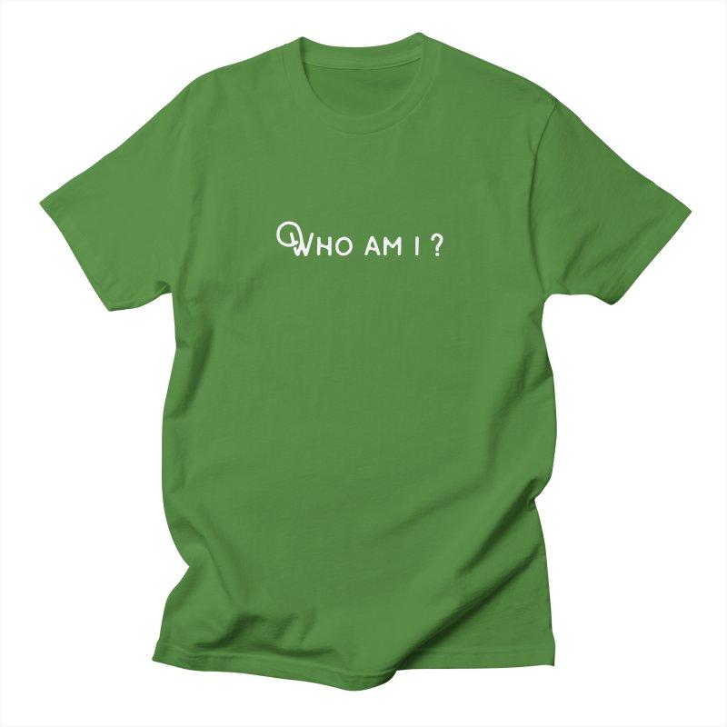 Who am i? Men's T-Shirt by Miezerie