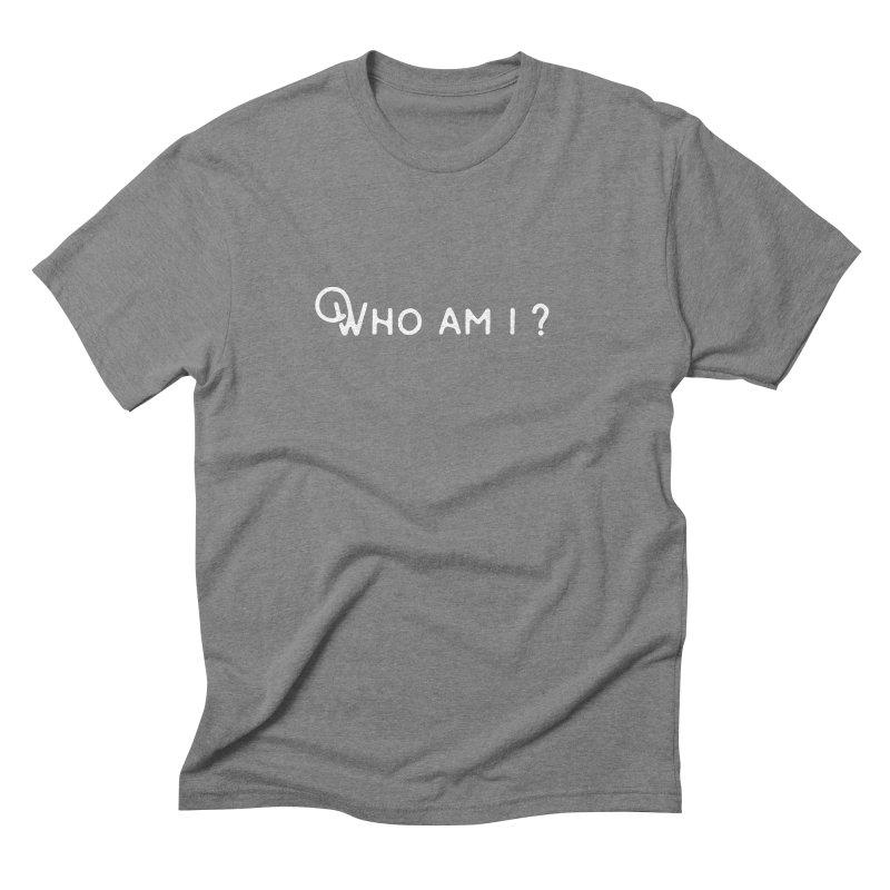 Who am i? Men's Triblend T-shirt by Miezerie