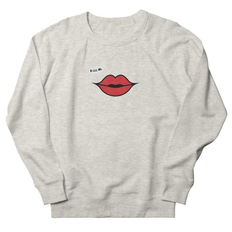 Lip - Kiss Me Women's French Terry Sweatshirt by Miezerie