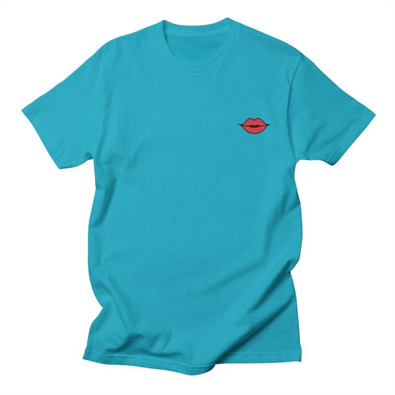 Lip Men's Regular T-Shirt by Miezerie