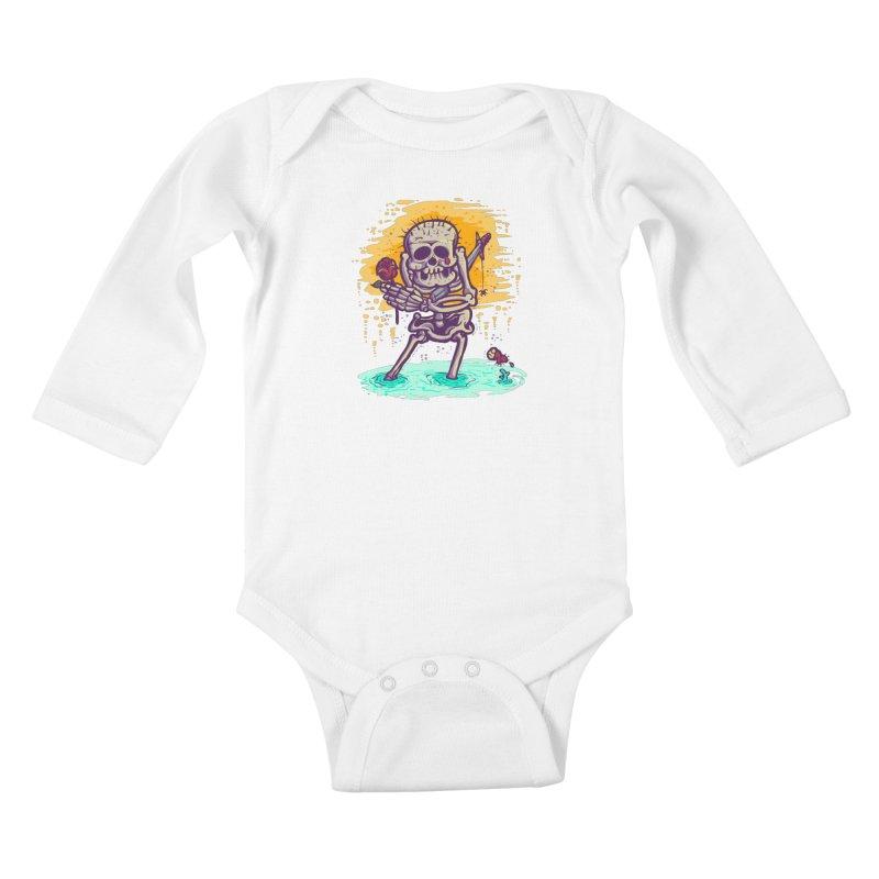 iwakpeli Kids Baby Longsleeve Bodysuit by miftake's Artist Shop