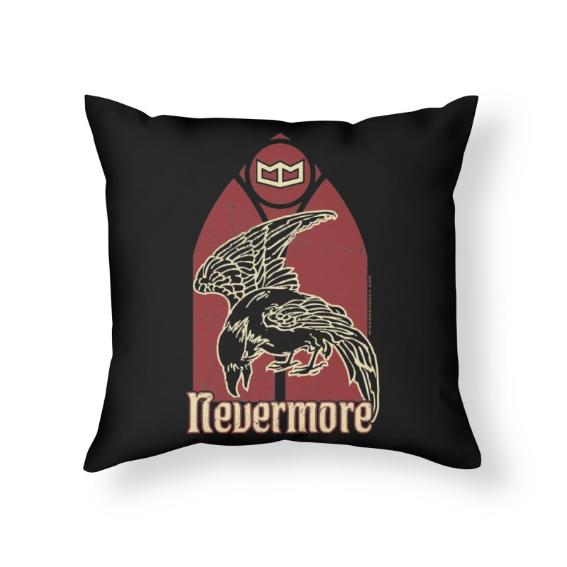 Nevermore Home Throw Pillow by miggsmendoza's Shop