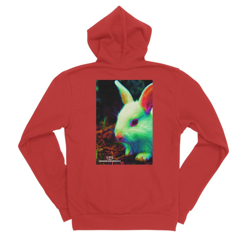 Trippy Bunny Men's Zip-Up Hoody by miggsmendoza's Shop