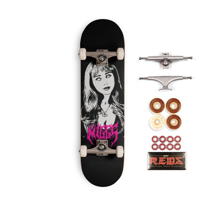 D3ATH M3TAL Accessories Skateboard by miggsmendoza's Shop