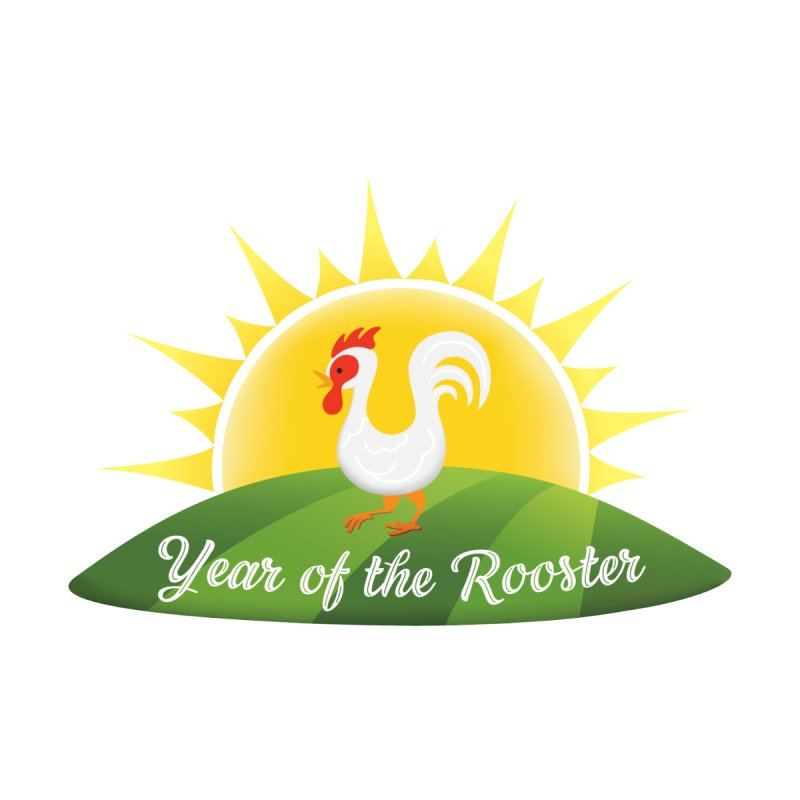 Year of the Rooster Sunrise Tee by Mighty Mandarin