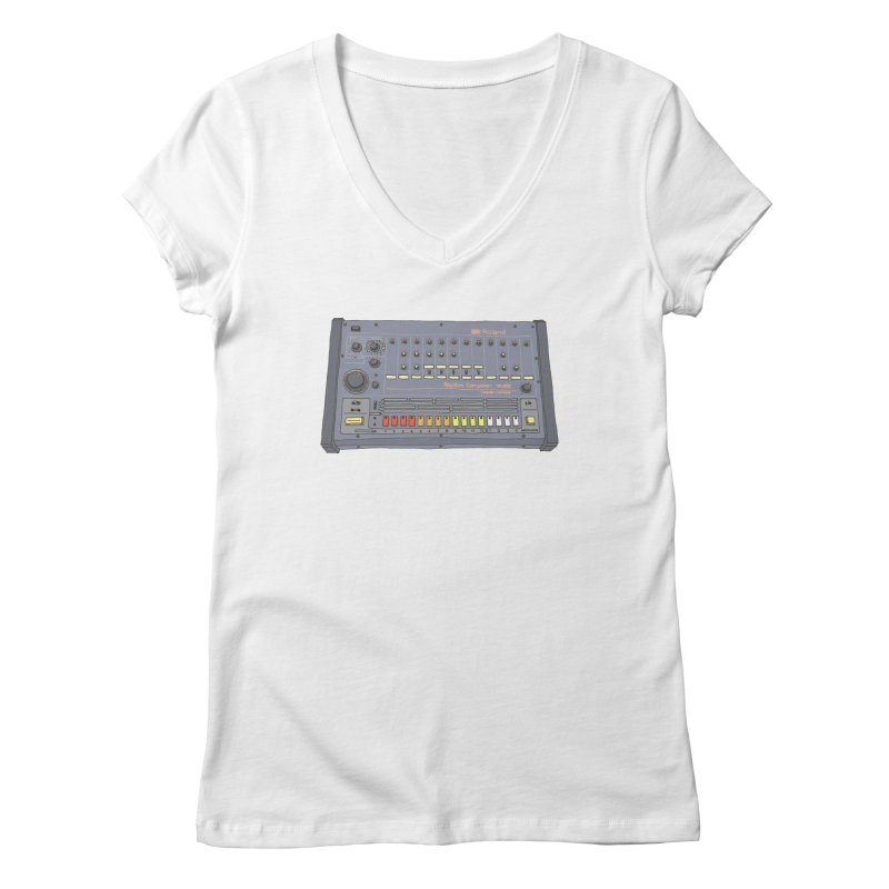 All About That 808 Women's V-Neck by MightyMoss