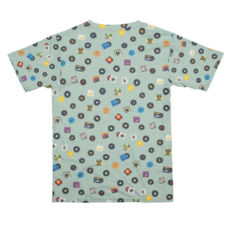 Mighty Record Collection Pattern - Sage Green Women's Cut & Sew by MightyMoss