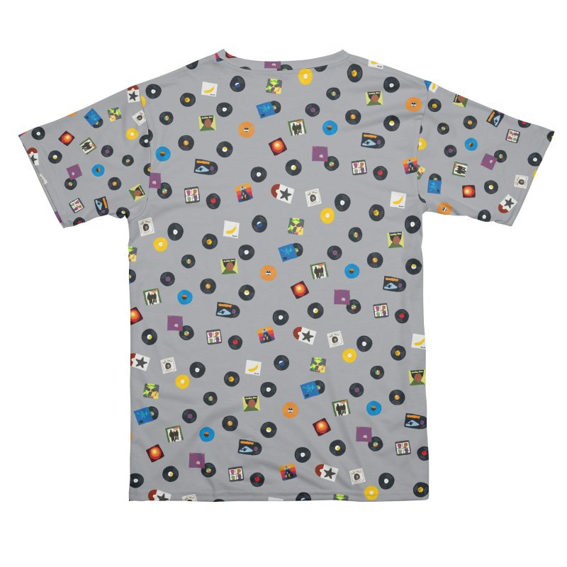Mighty Record Collection Pattern - Grey Men's Cut & Sew by MightyMoss
