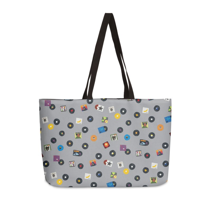 Mighty Record Collection Pattern - Grey Accessories Bag by MightyMoss