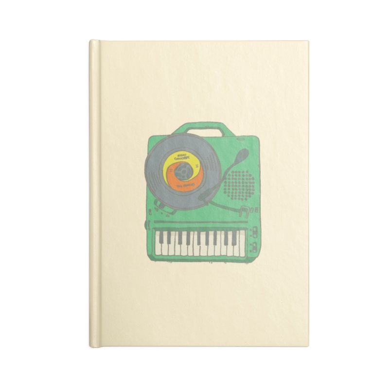 Portable Record Player 17 Accessories Notebook by